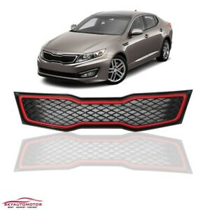 Fits Kia Optima 2011 2012 2013 Front Upper Grille With Red Trim Only Sx Sxl