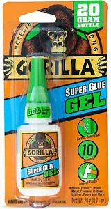 Gorilla Super Glue Gel 1 pack Metal Plastic Wood Home Use And Outdoor