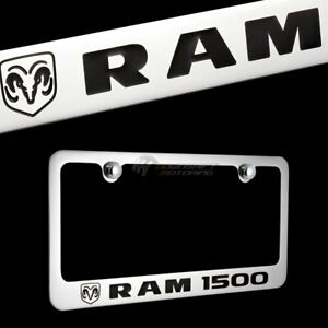 Dodge Ram 1500 Chrome Plated Brass License Plate Frame With Chrome Cap Authentic