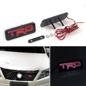 For Brand New Front Led Light Emblem Jdm Trd Racing Frs Supra Mr2 Supra