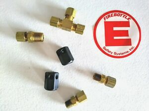 Firebottle Suppression System Nozzle Fitting Kit Dirt Drag Race Car Fire