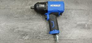 Kobalt Sgy air228 1 2 Drive Impact Wrench Max Torque 750ft lb Pre owned