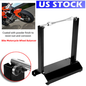 Motorcycle Wheel Balancer Balancing Stand Maintenance Rack Bike Free Shipping