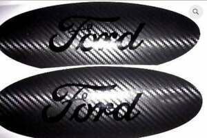 Carbon Fiber Ford Emblem Overlay Badge Blackout Edition Decal Any Year Model