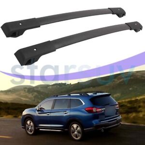 For Subaru Ascent 2019 2020 2021 Black Cross Bar Baggage Roof Rack Rail Carrier