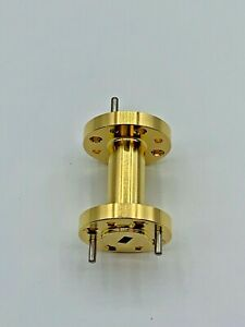Millimeter Waveguide 1 Inch Gold Plated Straight Wr 15 50 To 75 Ghz