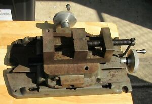 Vintage Heavy Cross Slide Xy Milling Drilling Machinist Vise 3 1 4 Wide Jaws