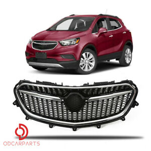 Fits 2017 2018 2019 Buick Encore Front Upper Grille Grill Chrome Black