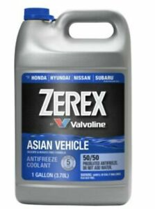 Zerex Asian Vehicle Antifreeze Coolant For Honda Acura 50 50 Pre Diluted