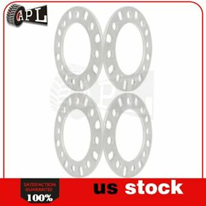 4x Universal Wheel Spacers 12mm 5x115 Fits Chevrolet Cadillac Buick Silver
