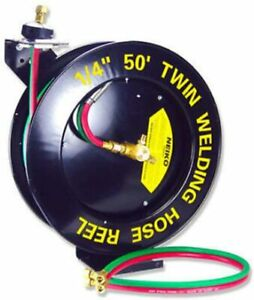 Oxygen Acetylenr Wall Torch Welding Hose Reel 50ft 1 4 Auto Rewing Retracable