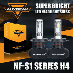 Auxbeam H4 9003 Hb2 Led Headlight Bulb Conversion Kit 6500k 8000lm 50w Fanless