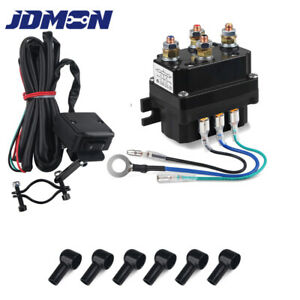Winch Solenoid Relay Thumb Switch Winch Contactor Fit For Atv 2000 5000lbs 250a