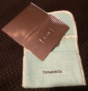 Vintage Tiffany Co Business Card Case Holder Sterling Silver 925 Engraved Kam