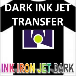 New Iron On Heat Transfer Paper Dark Colors Shirt Blue Line 75 Sheets Pack
