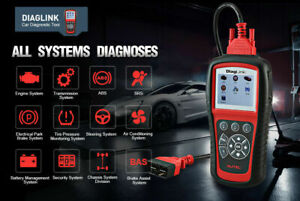 Professional Car Diagnostic Code Scanner Tool Abs Srs Oil Engine Obd2 Reader