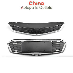 Front Bumper Upper Grille Middle Lower Grill Fits Chevy Chevrolet Cruze 2016 18