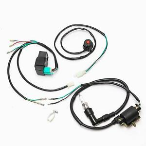 Cdi Ignition Coil Spark Plug Kill Switch Wire For 49 125cc Dirt Pit Bike Ssr Sdg