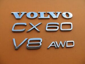03 14 Volvo Xc90 V8 Awd Rear Gate Lid Chrome Emblem Logo Badge Sign Set A8728