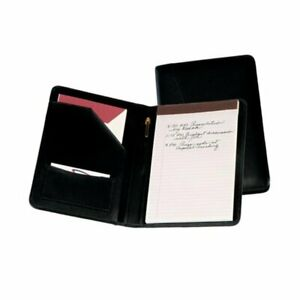 Tan Pad Leather Writing Padfolio New Business Folder Notebook Cutter Zippered