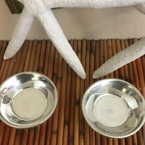 Set Of 2 Sterling Weighted Small Bowls 3 5 Inches In Diameter Nice Quality
