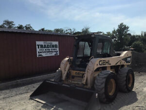 2009 Gehl 7810e Skid Steer Loader W Cab 2spd High Flow Only 1800 Hours