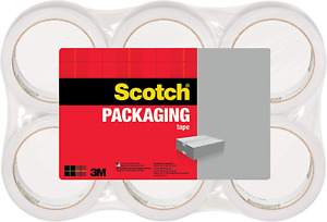 Scotch 3m 3350 General Purpose 6 Pack Shipping Packaging Tape 1 88 X 54 6 Yds