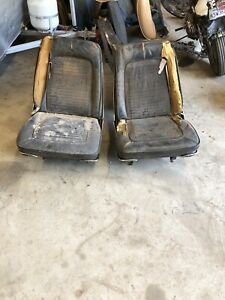 1966 1967 Mopar A Body Bucket Seats Tracks Mounts Oem Cores Barracuda Front