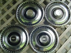 1968 1969 Chevy Chevrolet Impala Caprice Hubcaps Wheel Covers Police Vintage 15