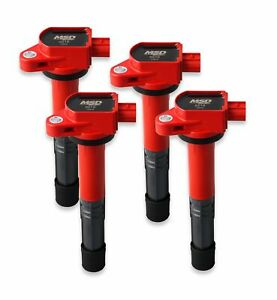 82194 Msd Ignition Coils Blaster Series 2008 2015 Honda acura 2 4l Red 4 pack