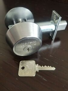 Medeco Single Cylinder Deadbolt With Thumbturn Comes With 1 Key