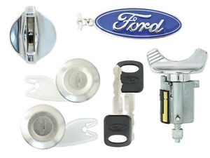 Ford 1992 95 F150 F250 Pick Up Ignition 2 Door Lock Cylinders W 2 Ford Keys
