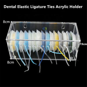 2 orthodontic Dental Elastic Ligature Ties Acrylic Dispenser Power Chains Holder