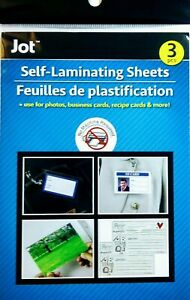 Jot Instant Self laminating Sheets 3 pc Pack
