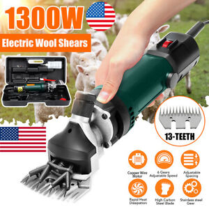 Us 1300w 110v Electric Sheep Goat Animal Clipper Groomer Shears Shearing Machine