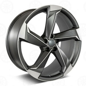 20 S5 Style Machined Gunmetal Wheels Fits Audi A7 S8 Q7