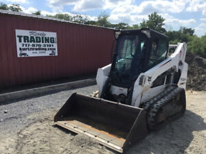 2016 Bobcat T590 Compact Track Skid Steer Loader W Cab Super Clean 2300hrs