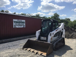 2016 Bobcat T590 Compact Track Skid Steer Loader W Cab Super Clean 1900hrs