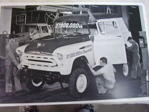 1957 Chevrolet 4wd Panel Truck On Assembly Line 11 X 17 Photo Picture