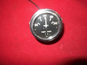 Vintage Stewart Warner 2 1 8 100 240 Degree Electric Water Temp Gauge Boat Van