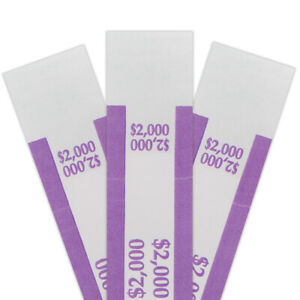 Assorted Money Bands Official Bank Approved Bill Straps 1000 Of Each