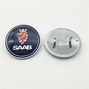 1x Saab 9 3 900 9000 Car Front Hood Bonnet Badge Emblem 50mm 5289871