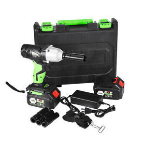 1 2in Cordless Electric Impact Wrench G un Drill Tool Fast Charge 2 X Battery Us