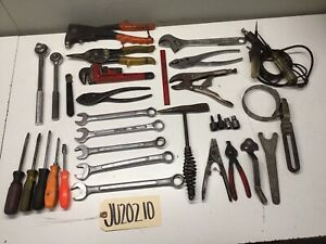 Mechanics Tool Lot Wrenches Sockets Snips Screwdriver Craftsman Gedore 2