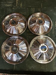 1965 Ford Mustang Hubcaps 14 Set Of 4 Wheel Covers 65 Hub Caps