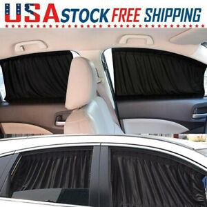 2pcs Magnetic Car Sunshade Fit Front Rear Side Window Curtain Sun Shade