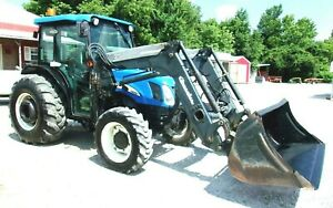 2006 New Holland Tn60da Tractor Cab 4x4 Loader free 1000 Mile Delivery From Ky
