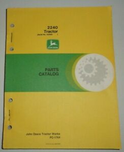 John Deere 2240 Tractor Parts Catalog Manual Book Original Jd s n 350 000