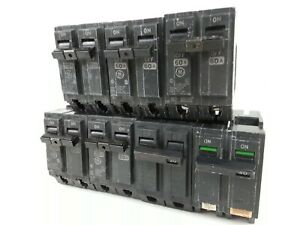 General Electric Lot Of Thql 2 Pole 20a To 60a Circuit Breakers