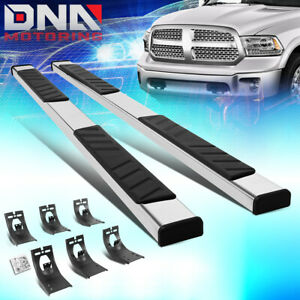 For 2009 2020 Dodge Ram Truck Crew Cab 5 Stainless Flat Board Side Step Bar